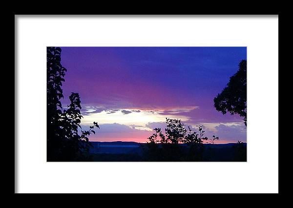 Purple Sunset Framed Print featuring the photograph Purple Passion by Toni Berry