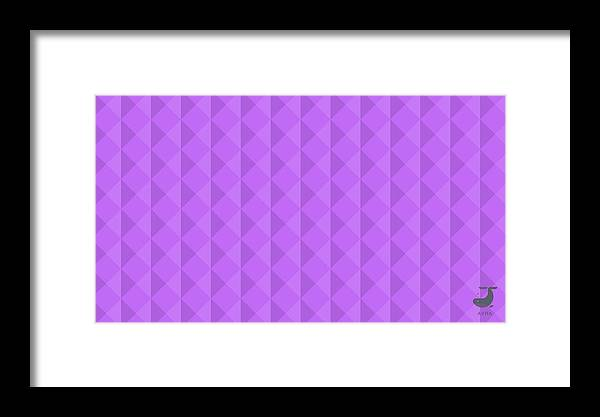 Purple Framed Print featuring the tapestry - textile Reflections by Avra