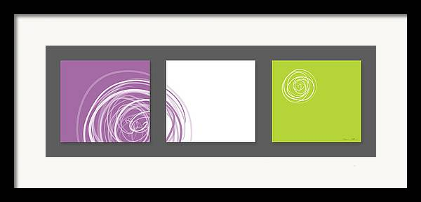 Abstract Framed Print featuring the digital art Purple Twirl by Nomi Elboim