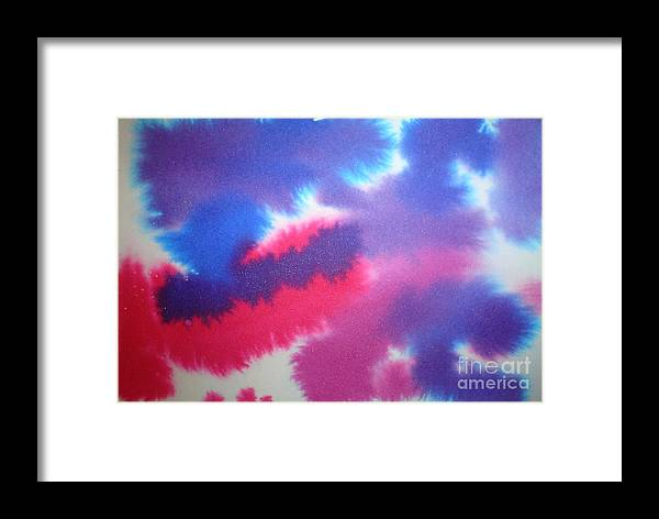 Abstract Framed Print featuring the painting Purple Wisp by Chandelle Hazen
