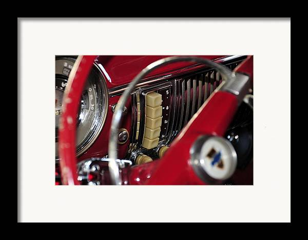 Antic Car Framed Print featuring the photograph Push Buttons by David Lee Thompson