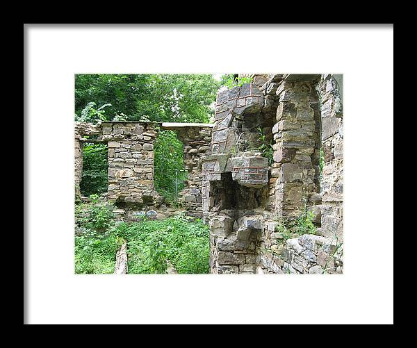 Abandoned Farmhouses Framed Print featuring the photograph Put A Log On The Fire by Richard Stanford