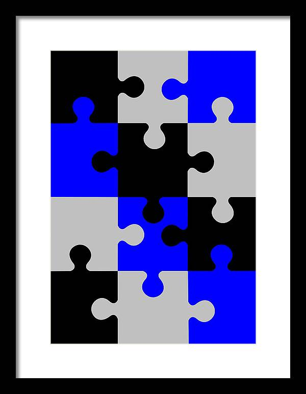 Puzzle Framed Print featuring the digital art Puzzle by Asbjorn Lonvig