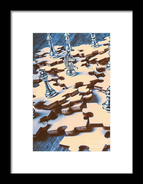 puzzle of mysteries and strategy framed print by jorgo photography