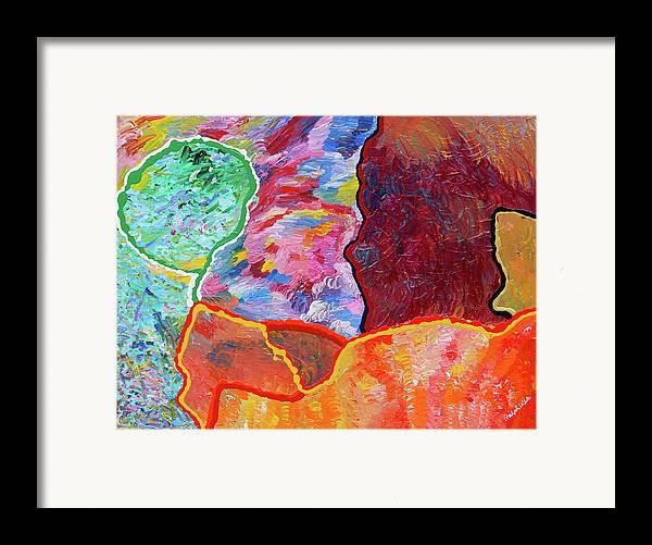 Fusionart Framed Print featuring the painting Puzzle by Ralph White