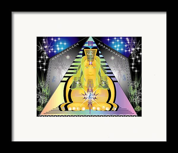 Egypt Framed Print featuring the digital art Pyramid2 by George Pasini