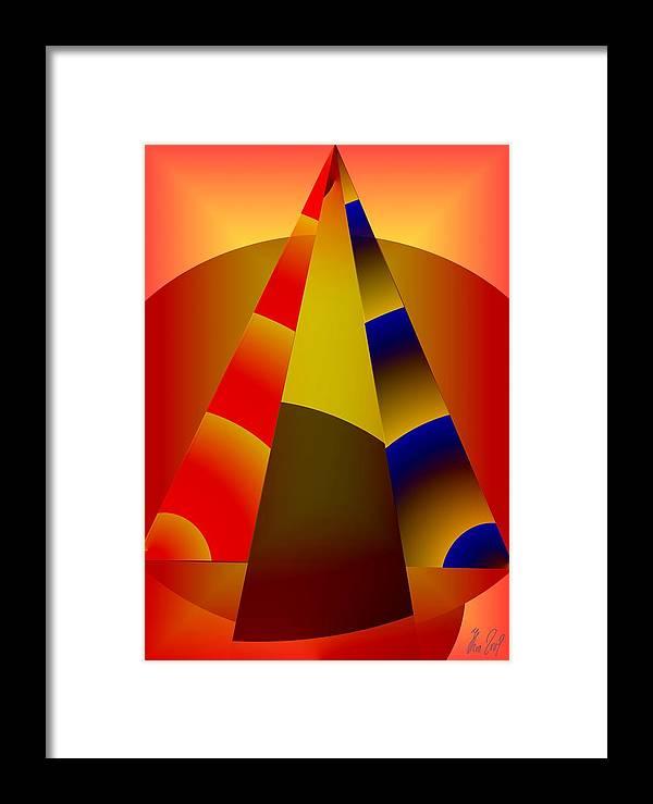 Pyramids Framed Print featuring the digital art Pyramids Pendulum by Helmut Rottler
