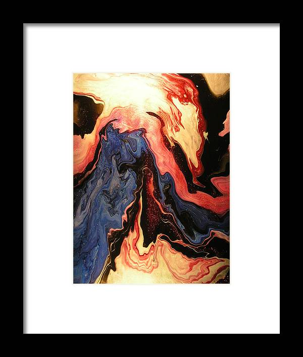 Abstract Framed Print featuring the painting Pyroclastic by Patrick Mock