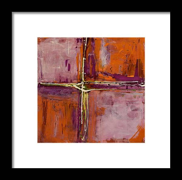 Canvas Print Framed Print featuring the painting Quadrants by K Batson Art