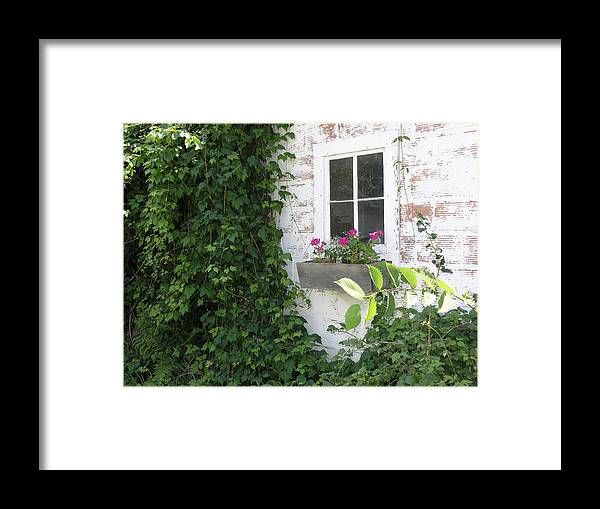 Cottage Framed Print featuring the photograph Quaint Cottage At The Farm by Janis Beauchamp