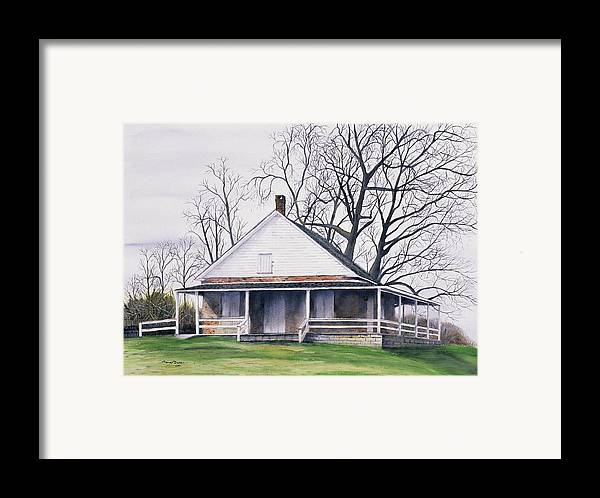 Quaker Framed Print featuring the painting Quaker Meeting House by Tom Dorsz