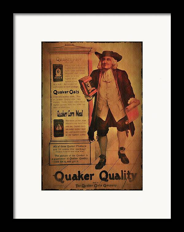 Quaker Framed Print featuring the photograph Quaker Quality by Bill Cannon