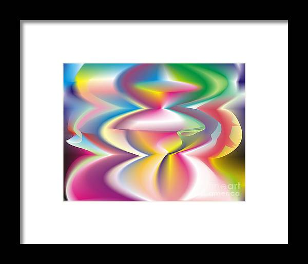 Abstract Framed Print featuring the digital art Quantum Landscape 3 by Walter Oliver Neal