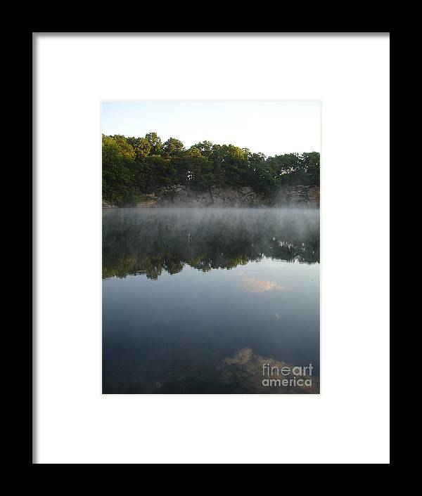 Landscape Framed Print featuring the photograph Quarry Reflections by Chad Natti