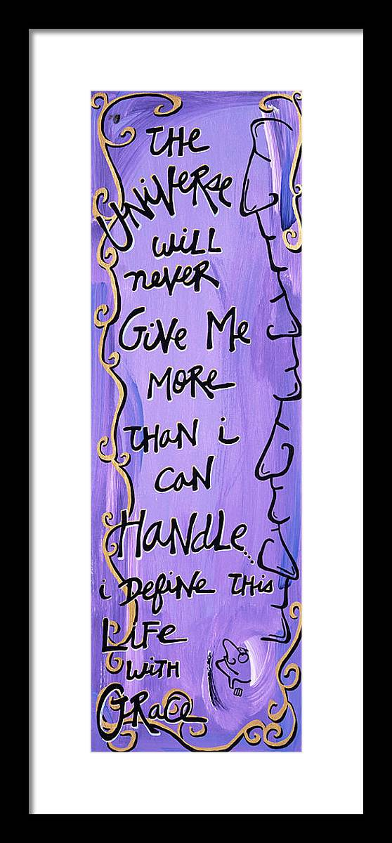Gallery Framed Print featuring the painting Quatrain Grace by Dar Freeland