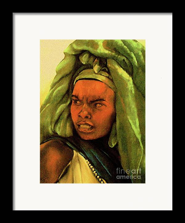 Queen Framed Print featuring the pastel Queen by Curtis James