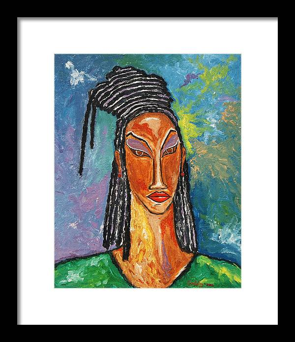 Framed Print featuring the painting Queen by Johnny Goolsby
