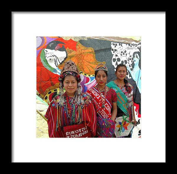 Sumpango Giant Kite Festival Framed Print featuring the photograph Giant Kite Festival Queen by Nettie Pena