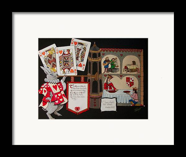 Nursery Rhyme Framed Print featuring the painting Queen Of Hearts by Victoria Heryet
