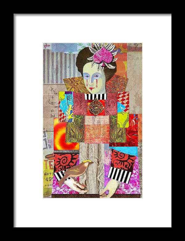 Queen Of Spades Framed Print featuring the digital art Queen Of Spades Custom Order by Elena Nosyreva