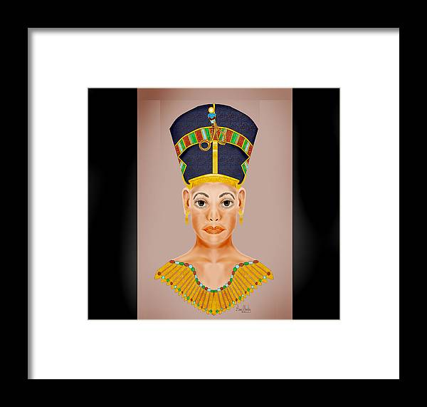 Portrait Framed Print featuring the painting Queen Of The Nile by Anne Norskog