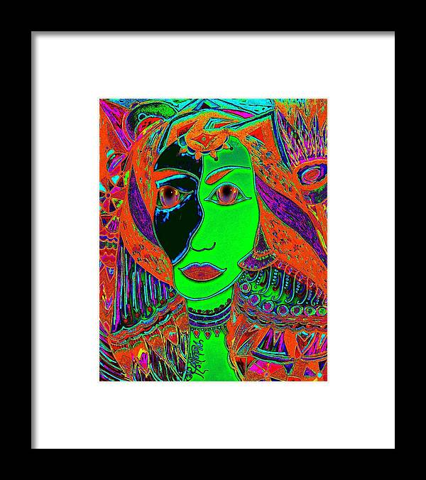 Queen Of The Nile Framed Print featuring the painting Queen Of The Nile by Natalie Holland