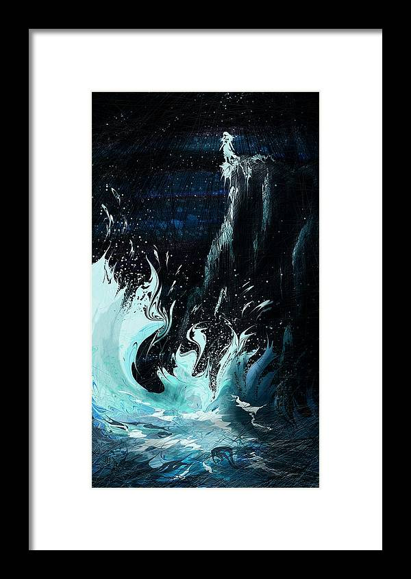 Abstract Framed Print featuring the digital art Queen of the Seas by William Russell Nowicki