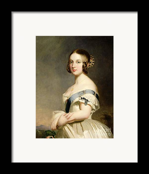 Queen Framed Print featuring the painting Queen Victoria by Franz Xavier Winterhalter