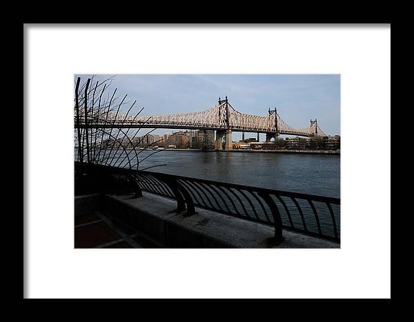 Queensboro Bridge Framed Print featuring the photograph Queensboro Bridge, Nyc by Soon Ming Tsang