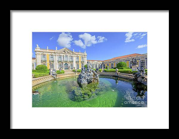 Sintra Framed Print featuring the photograph Queluz National Palace Sintra by Benny Marty