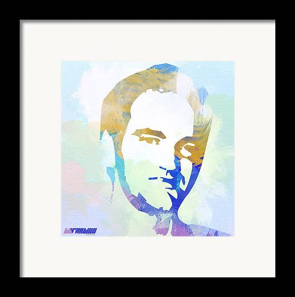 Quentin Tarantino Framed Print featuring the digital art Quentin Tarantino by Naxart Studio