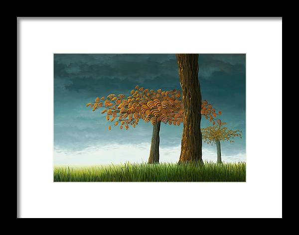 Tree Framed Print featuring the painting Quercus Corymbion by Patricia Van Lubeck
