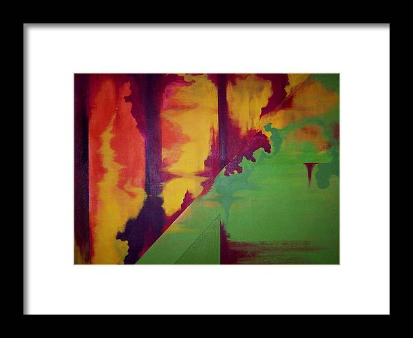 Tropical Framed Print featuring the painting Querelle by James Harper