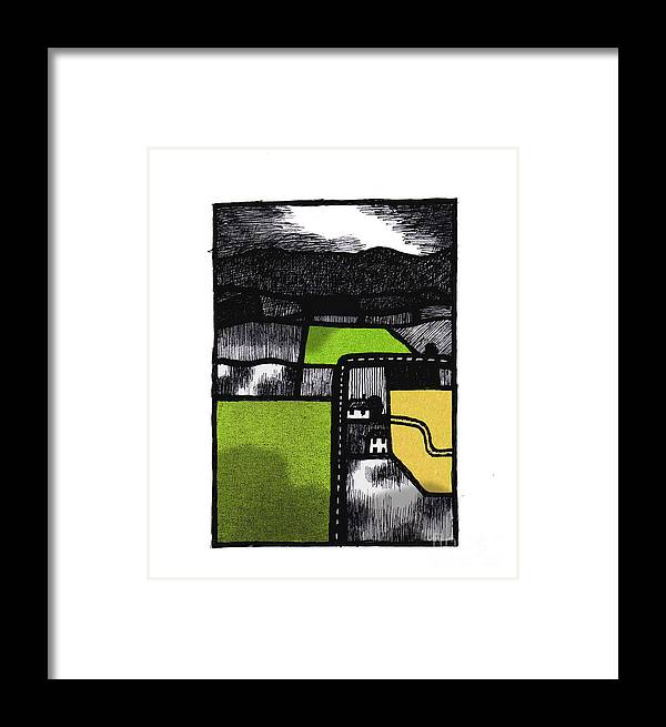 Lancaster Framed Print featuring the digital art Quernmore 1 by Andy Mercer