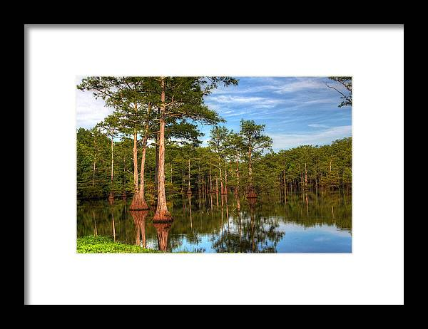 Quiet Framed Print featuring the photograph Quiet Afternoon At The Bayou by Ester McGuire