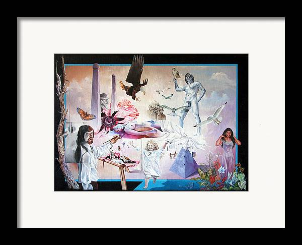 Surrealism Framed Print featuring the painting Quiet Afternoon At The Studio by Otto Rapp
