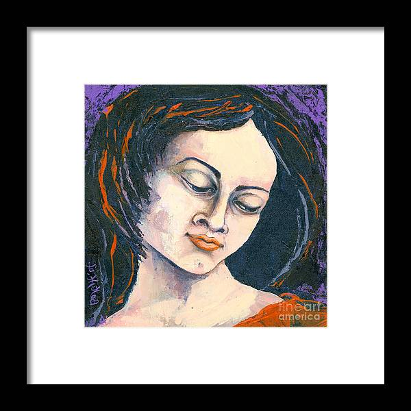 Canvas Prints Framed Print featuring the painting Quiet Contemplation by Elisabeta Hermann