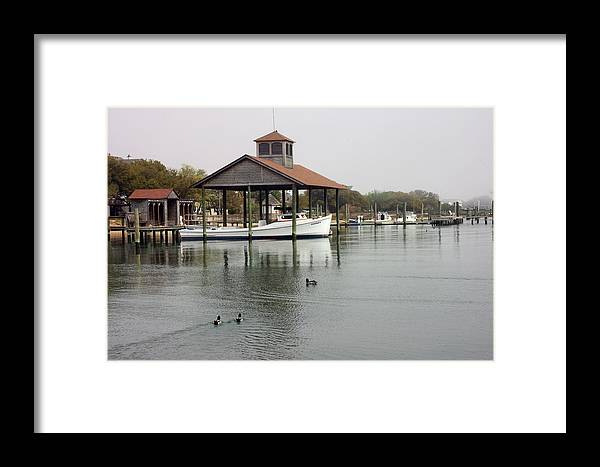 Boat Framed Print featuring the photograph Quiet Cove by Cathy Dixson