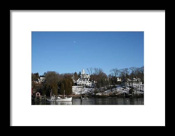 Landscape Framed Print featuring the photograph Quiet Harbor by Doug Mills