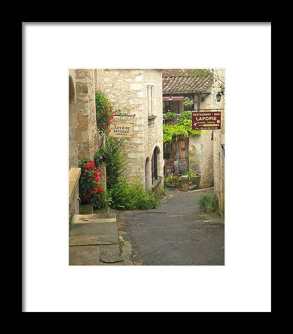 France Framed Print featuring the photograph Quiet Lane In St Cirq I France by Greg Matchick