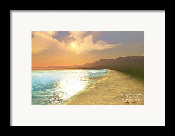 Sunset Framed Print featuring the painting Quiet Places by Corey Ford