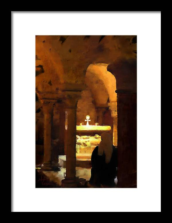 Prayer Framed Print featuring the painting Quiet Prayers by Stephen Lucas