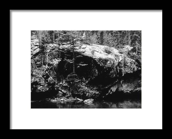 Landscape Framed Print featuring the photograph Quiet River by Allan McConnell