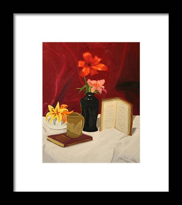 Still Life Framed Print featuring the painting Quiet Spot by Robert Tower
