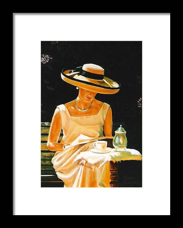 Tea Cup Framed Print featuring the painting Quiet time by Keith Gantos