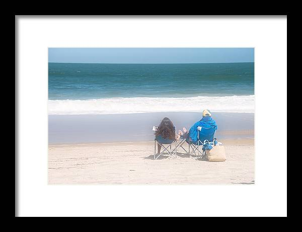 Beach Framed Print featuring the photograph Quiet Time by Tom McElvy