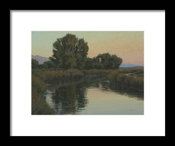 Owens River Framed Print featuring the painting Quiet Water Morning by Joe Mancuso
