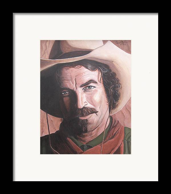 Cowboy Framed Print featuring the painting Quigley by Kenneth Kelsoe
