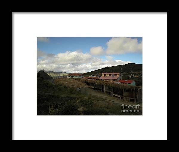 Ecuador Framed Print featuring the photograph Quilatoa Village by Alisha Robertson
