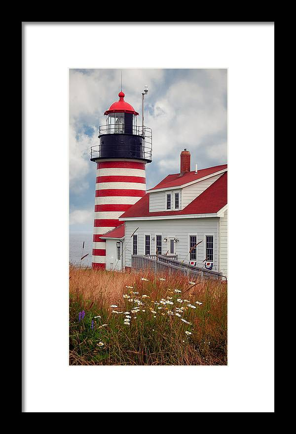 West Quoddy Lighthouse Framed Print featuring the photograph Quoddy Lighthouse Afternoon by Brenda Giasson